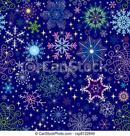 Christmas seamless pattern - csp8122849
