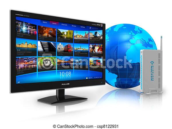 Internet television concept - csp8122931
