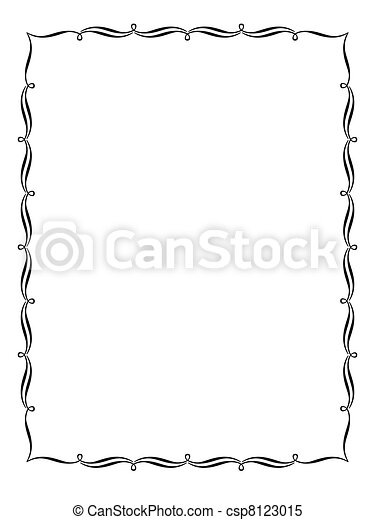 calligraphy ornamental decorative frame - csp8123015