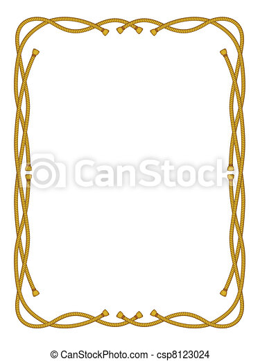 frame from rope isolated on white - csp8123024