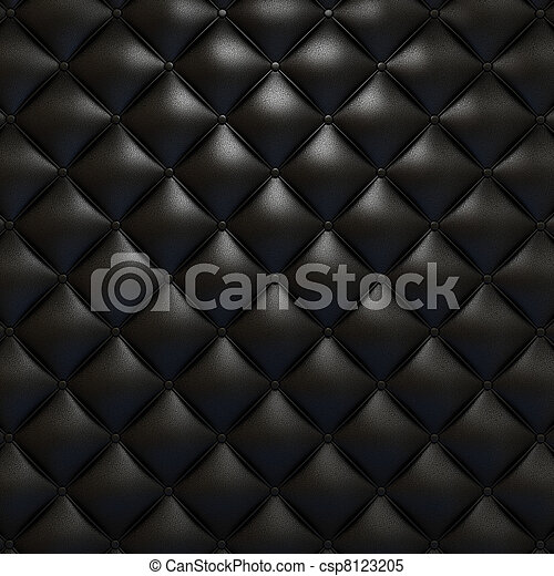 Black leather upholstery texture - csp8123205