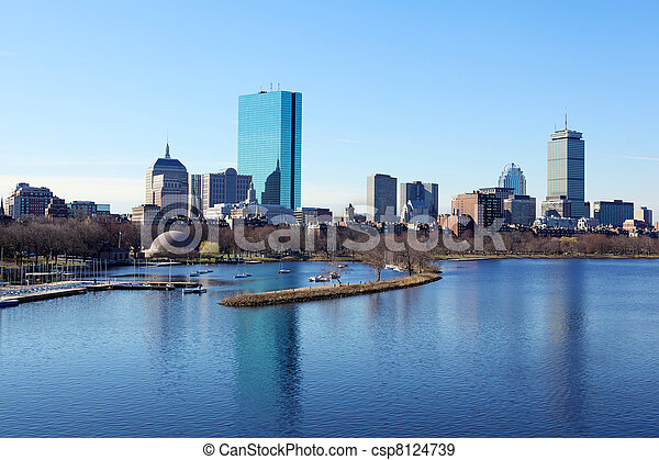 Boston skyline - csp8124739