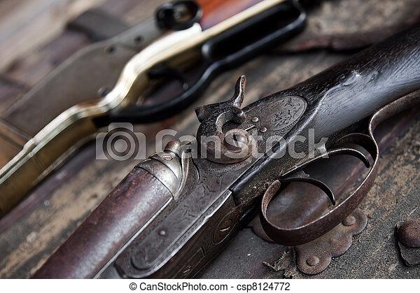 Old Rifles - csp8124772