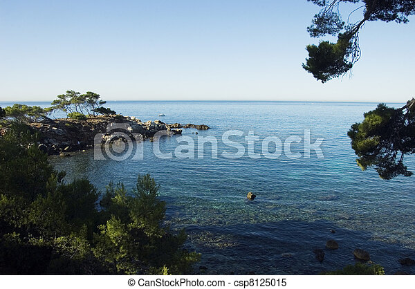 Mediterranean sea and shores - csp8125015
