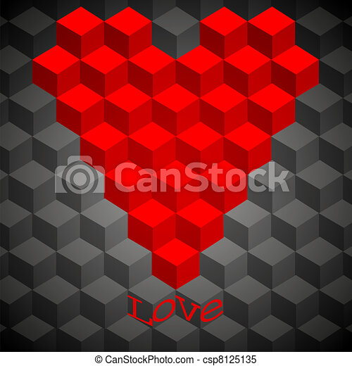 concept geometry heart. vector illustration. Best choice - csp8125135