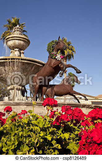 Famous Scottsdale Fountain - csp8126489