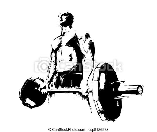 the bodybuilder - csp8126873