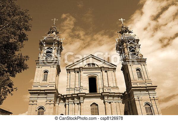Building piously-uspenskoj churches in Vitebsk - csp8126978