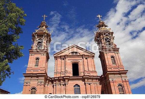 Building piously-uspenskoj churches in Vitebsk - csp8126979