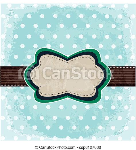 Vintage polka dot design - csp8127080