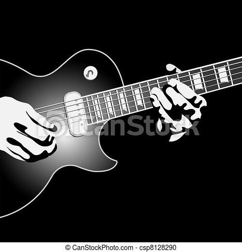 Guitar Player Vector - Instant Download - csp8128290