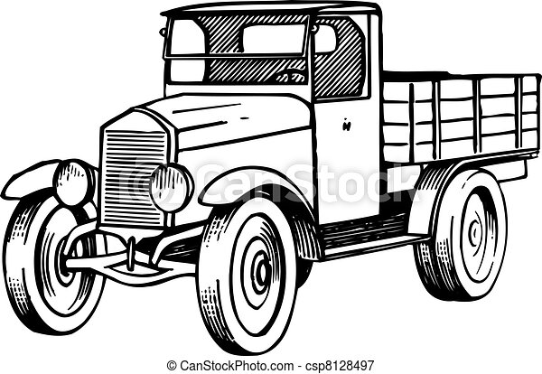 Old lorry - csp8128497