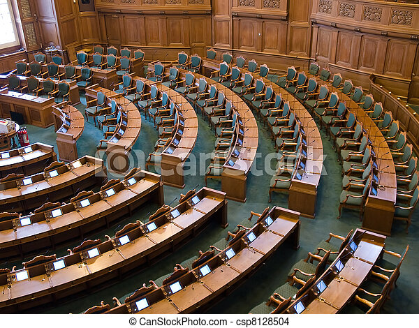 Interior of a parliament senate hall - csp8128504