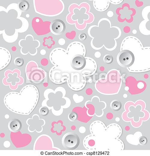cute seamless pattern - csp8129472