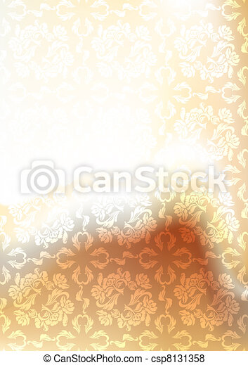 Background blur, ornament backdrop gold, gradient mesh - csp8131358