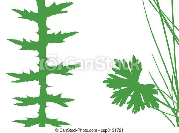 herb silhouette on white background, vector illustration - csp8131721