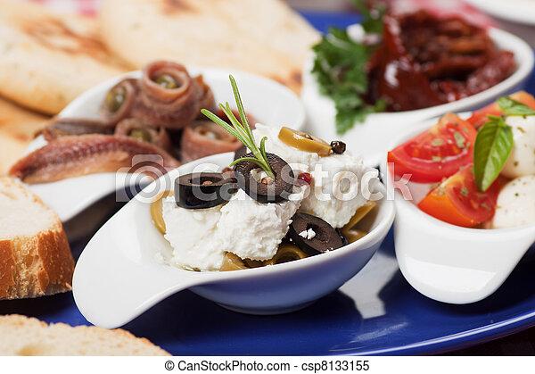 Mediterranean appetizer - csp8133155