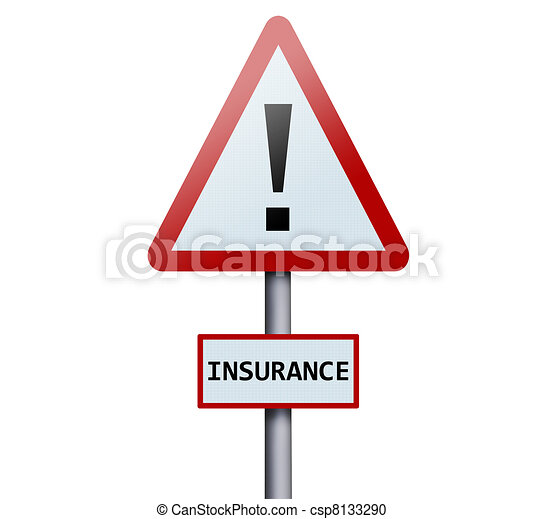 Insurance word on road sign - csp8133290
