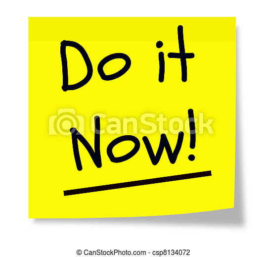 Do It Now Sticky Pad - csp8134072