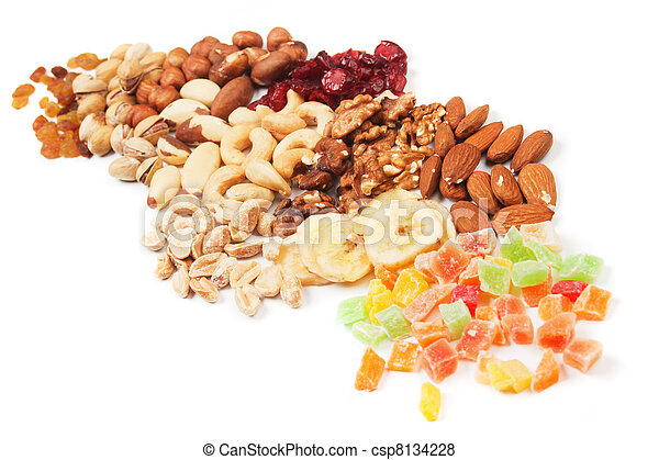 Nuts and dried fruit - csp8134228