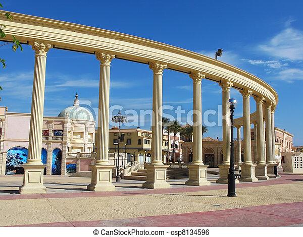 Colonnade in Sharm El Sheikh, Egypt - csp8134596