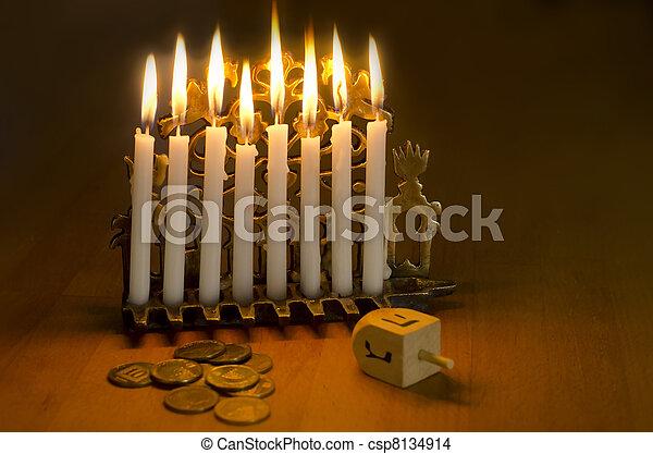 Jewish Holiday Hanukkah - csp8134914