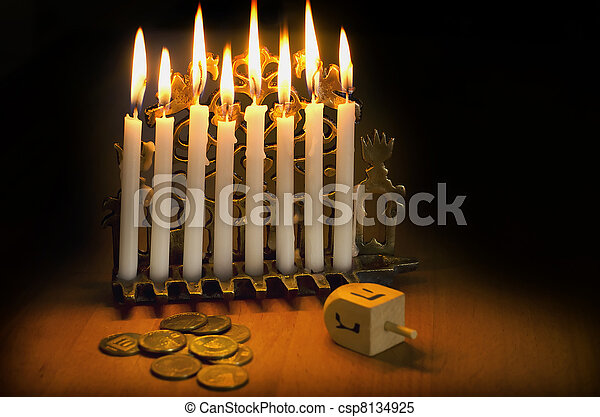 Jewish Holiday Hanukkah - csp8134925