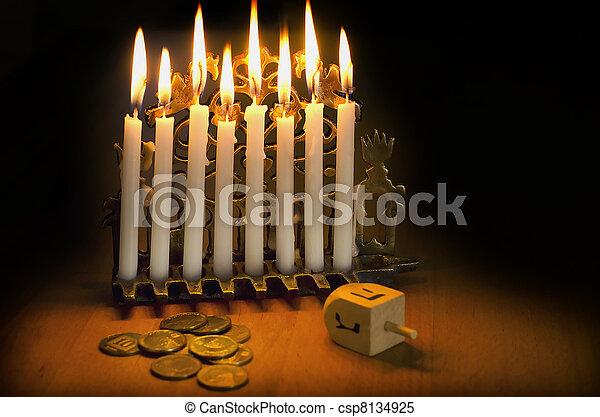 Jewish Holiday Hanukkah - csp8134925
