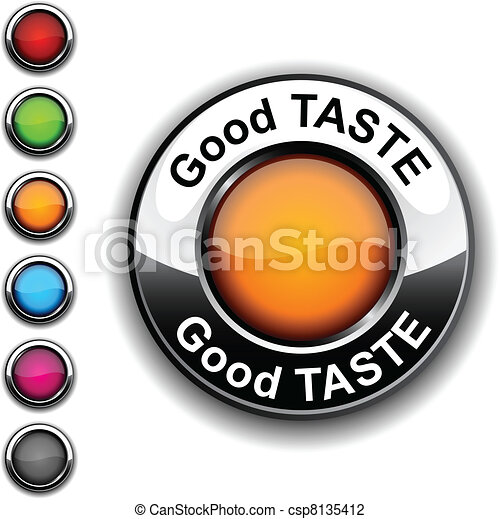 Good taste button. - csp8135412