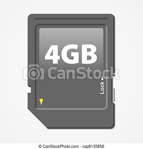 Memory Card Vector - csp8135856