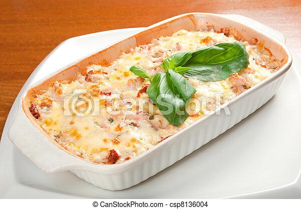 Lasagna with beef .Italian cuisine - csp8136004
