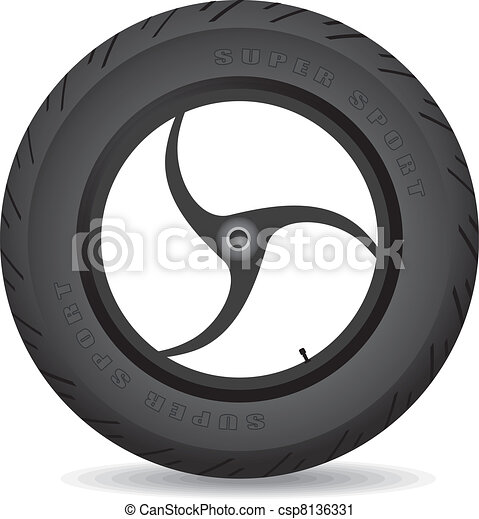 Wheel for a sports bike - vector. - csp8136331