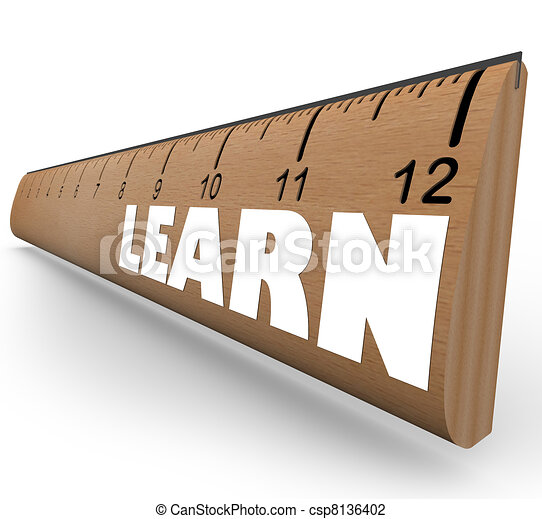 Learn Word on Ruler Measure Education Progress Growth - csp8136402
