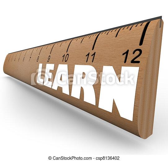 Learn Word on Ruler Measure Education Progress Growth - csp8136402