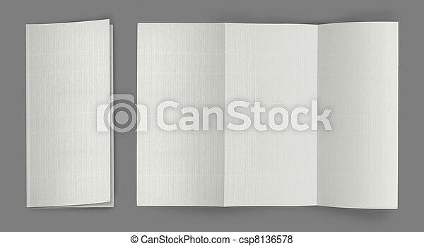 blank fold flyer brochure - csp8136578