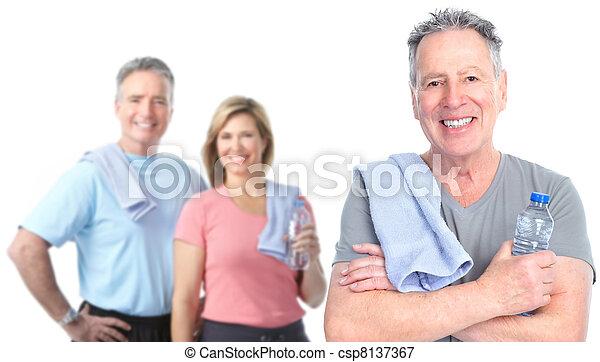 Healthy senior people. - csp8137367