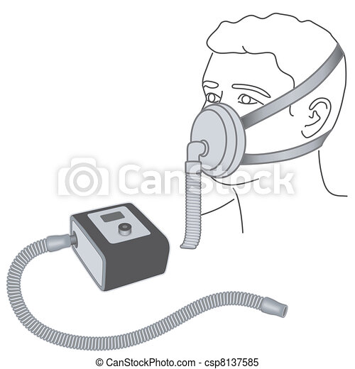Sleep Apnea, CPAP, Nose -mouth Mask - csp8137585