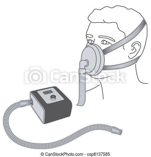 Sleep Apnea, CPAP, Nose -mouth Mask - csp8137585