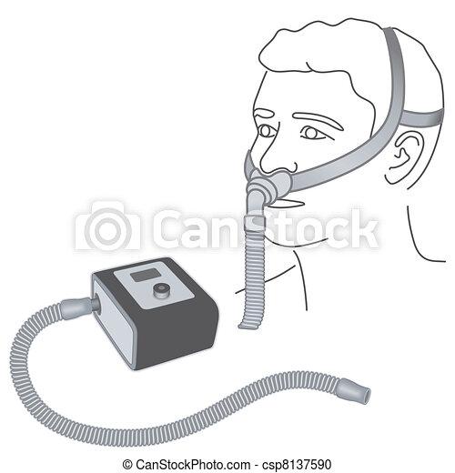 Sleep Apnea, CPAP, Nose Pillow Mask - csp8137590
