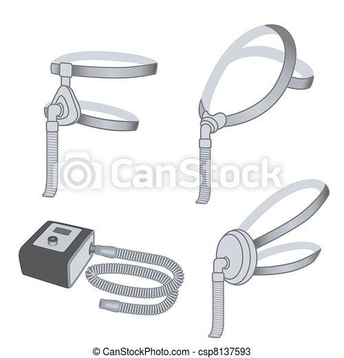 CPAP Machine, 3 styles Face Masks - csp8137593