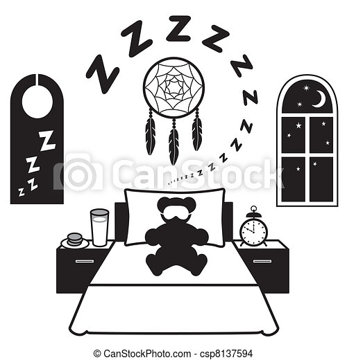 Restful Sleep Icons - csp8137594