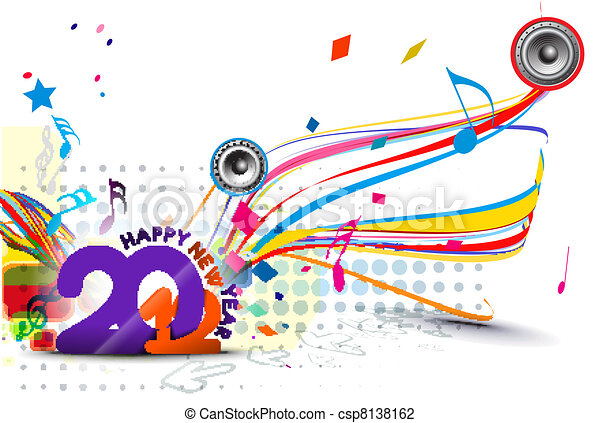 New year 2012 poster design - csp8138162