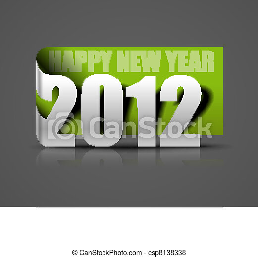 2012 sticker - csp8138338