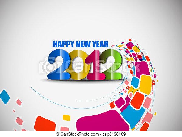 new year 2012 background - csp8138409