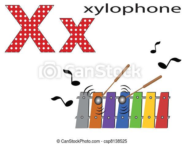 Children  alphabet ,X - csp8138525