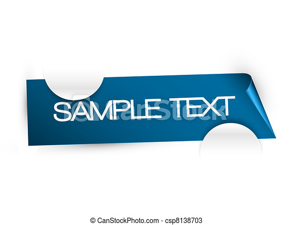 White paper card holder with place for your content - csp8138703