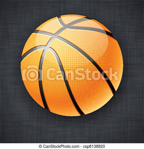 Vector Clipart Of Basketball Ball. - Vector Illustration Of Realistic... Csp8138820 - Search ...