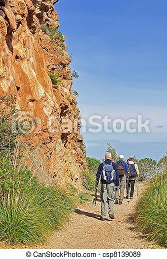 Trekking in Majorca - csp8139089