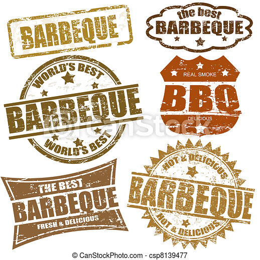 Barbeque stamps - csp8139477