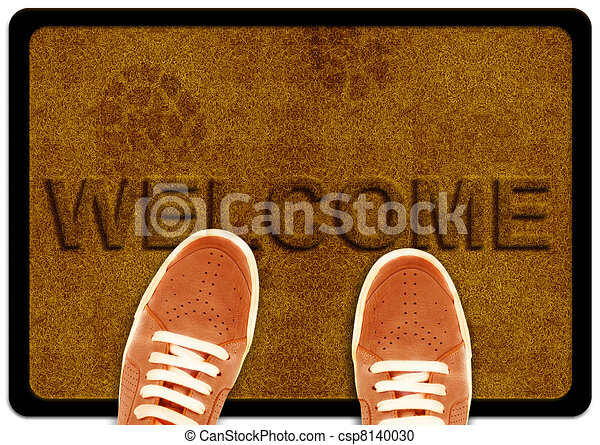 Stock Illustration Of Welcome Cleaning Foot Carpet With